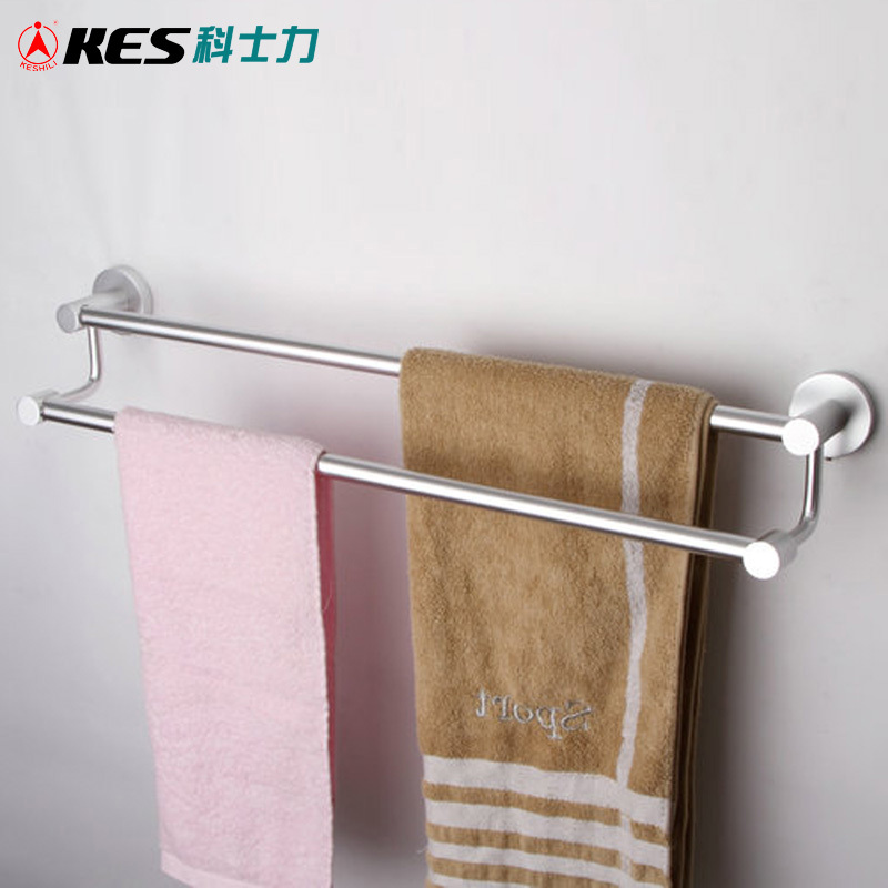 22 inch double towel bar for bathroom silver white in towel bars