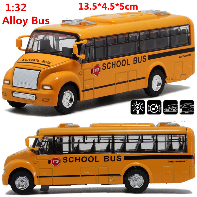2015 Discount 50% discount, 1:32 scale alloy pull back School bus model, Diecast bus cars toy,Children's gift(China (Mainland))