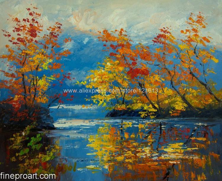 Hand Painted Effulgent Autumn Modern Art Vibrant Rich ...
