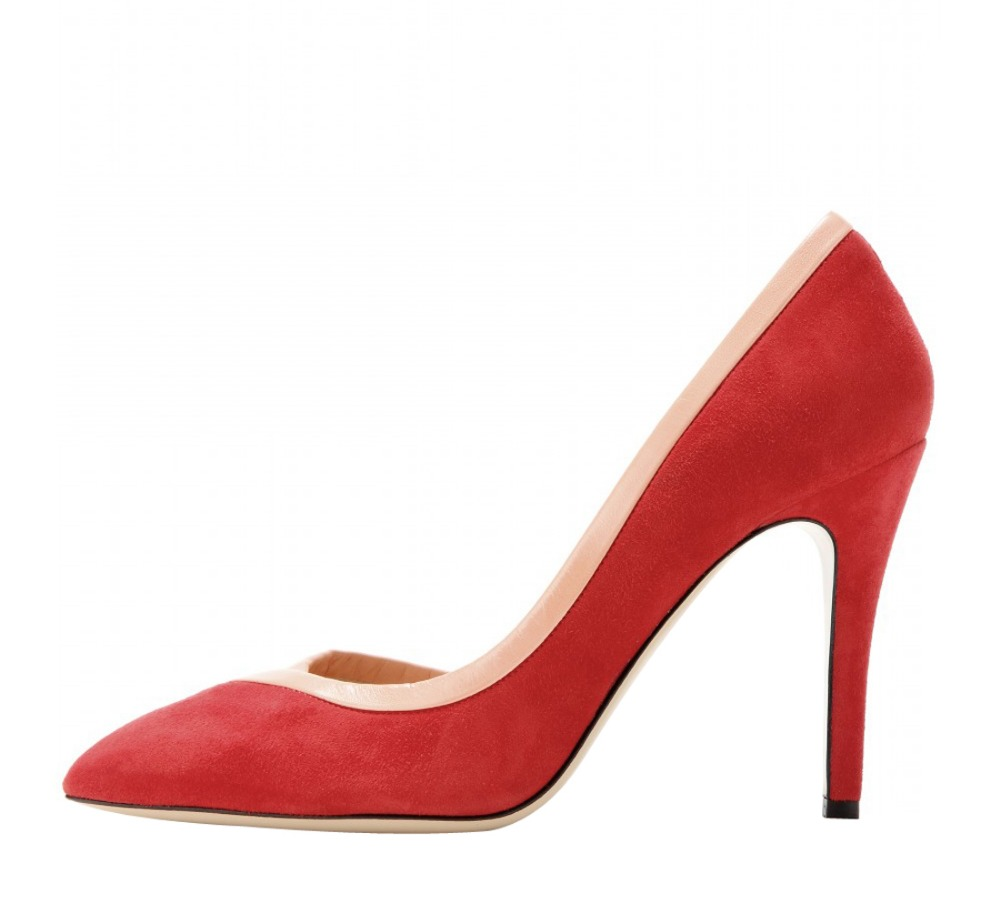 New design women pumps elegant flock pointed toe thin high heels pumps red stylish shoes woman Plus size can be customized<br><br>Aliexpress