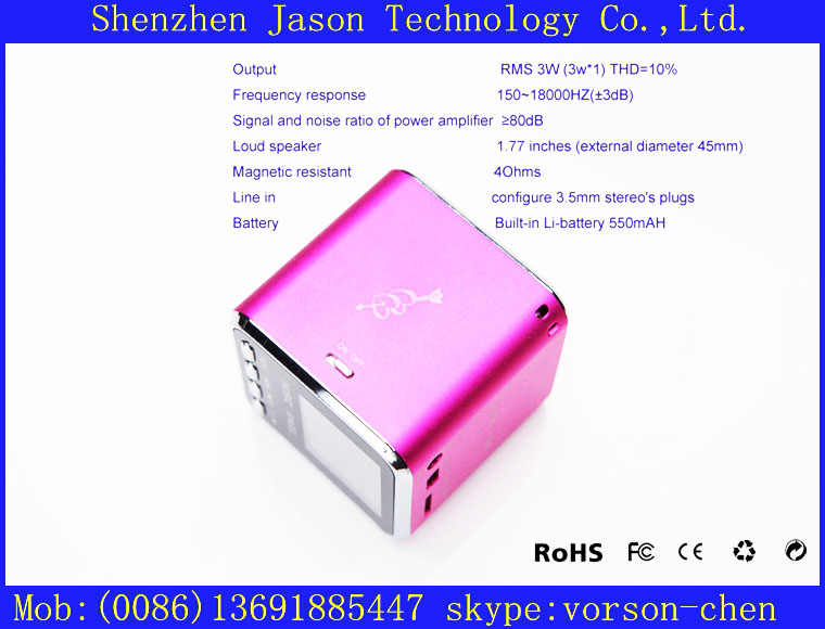 funny mini amplifier mobile speaker megaphone(China (Mainland))