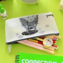 Hot Sale Kawaii Totoro School Kids Pen Pencil Bag Case Girl's Cosmetics Purse Bag Stationery For Women Gift(China (Mainland))