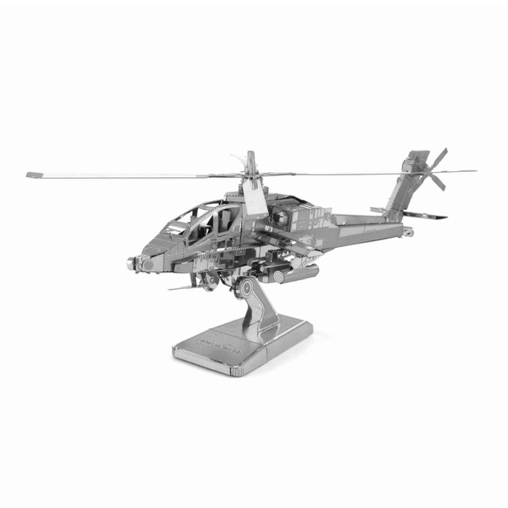 3D puzzle metal jigsaw AH64 Apache fighter model fancy toy for children(China (Mainland))