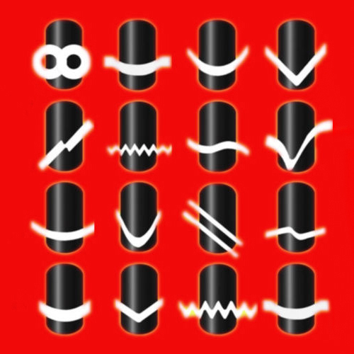 2016 Novo Projetado 2 Pcs Chic 18 Estilos Francês Manicure Nail Art Salon Dicas Guia de Fita Adesivos Decorações DIY Stencil 8LDS