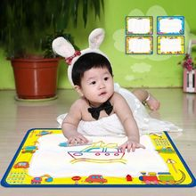 50x34cm Baby Kids Water Drawing Painting Writing Mat Board with Magic Pen Doodle Gift Christmas(China (Mainland))