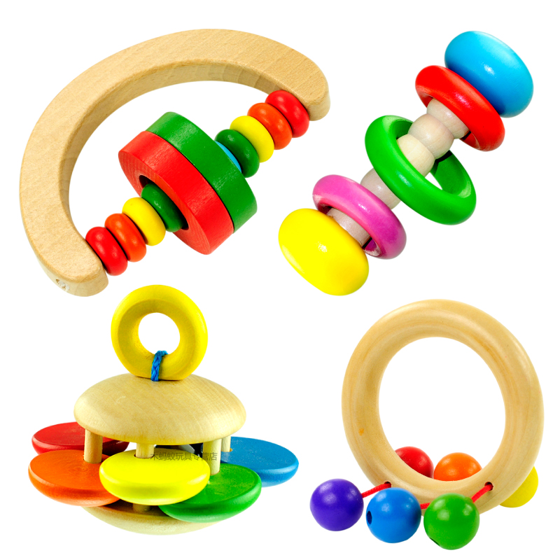 Baby Rattle Toys : Free shipping baby wood rattles yakuchinone child bell