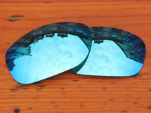 Polycarbonate-Ice Blue Mirror Replacement Lenses For Fives Squared Sunglasses Frame 100% UVA & UVB Protection