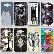 Case For Samsung Galaxy Core 2 Prime Grand Prime 2 Alpha Transparent Coloured Drawing Plastic Phone Cover For Samsung G355H