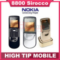 Original Nokia 8800 sirocco 128MB phones unlocked 8800S russian Keyboard language Desktop Charger Case free Refurbished