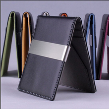 hot sell 2015 design women and men wallets men's wallets money clip , casual bag ultra-thin purses leather wallet 65030(China (Mainland))