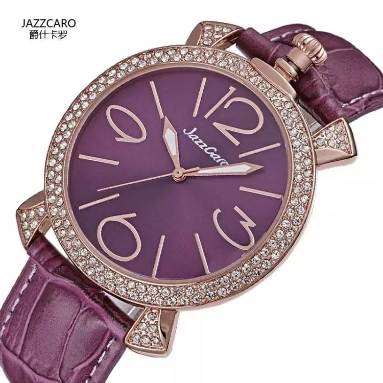 2016 Fashion & Casual Quartz Metal Hot Sale Rushed Women Ruby Round Authentic Girl Watch Table Small Waterproof(China (Mainland))