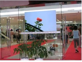 3d Holographic transparent rear projection screen film display vivid and clear picture for shopping windows / fast shipping(China (Mainland))