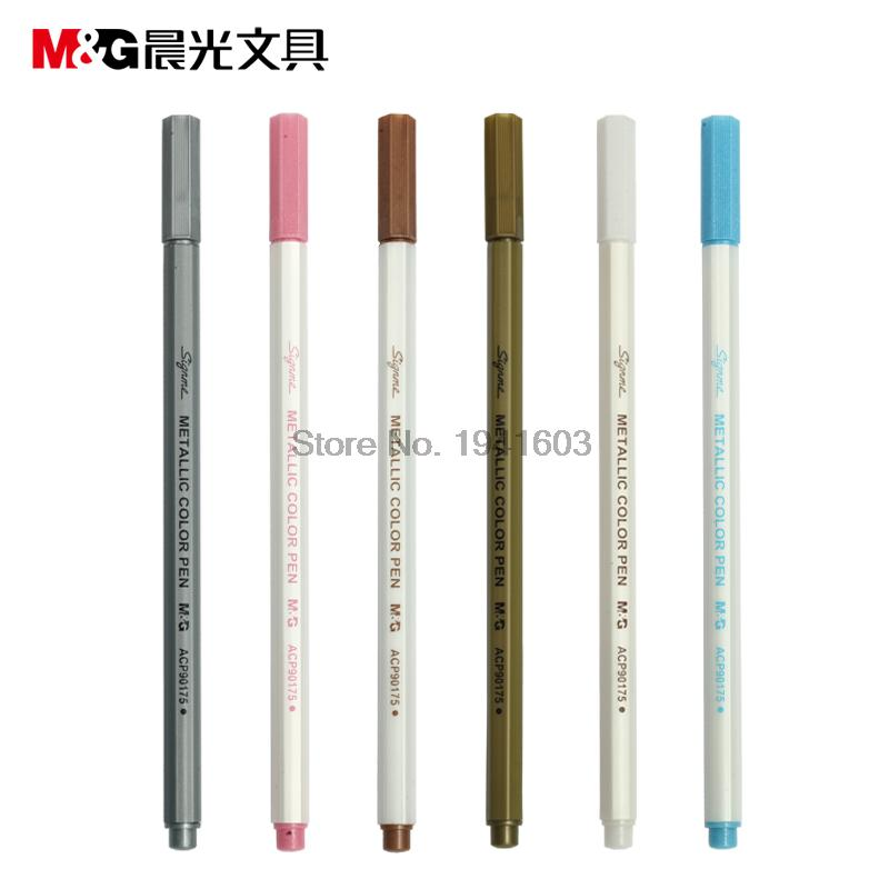 Marker pen M&amp;G ACP90175 Oficce and school stationery 6 colors to choose wholesale 6 pcs/lot Free Shipping<br><br>Aliexpress