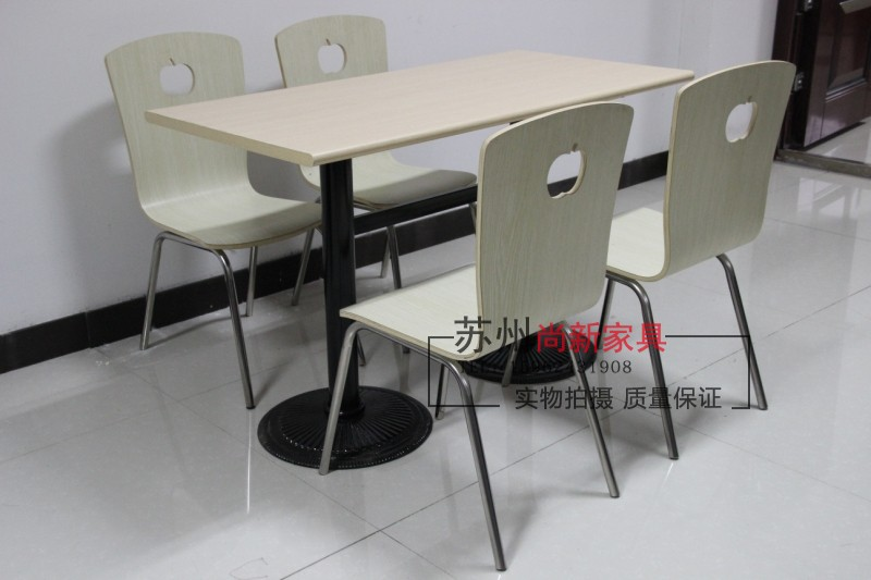Special stainless steel four-digit rectangular KFC fast food tables and chairs tables and chairs tables and chairs combination t(China (Mainland))