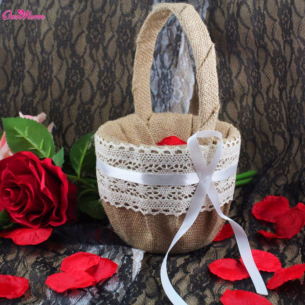 Flower Girl Basket Kit : Popular vintage wedding decorations for sale buy cheap