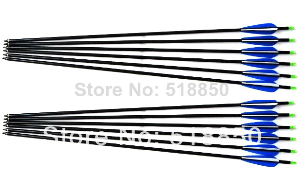 2014 newly 20pcs archery arrows aluminum alloy spines 8.8mm shaft diameter hunting arrow with plastic arrow vanes