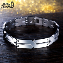 "Effie Queen Personality ""X"" Pattern Men Bracelet Stainless Steel Bracelets Jewelry for Best Friends Wristbands IB16(China (Mainland))"
