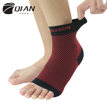 QIAN YOGA Elastic Ankle Brace Support Band Foot Sleeve Compression Arch Ankle Socks Support Protector Heel Achilles Brace(China (Mainland))