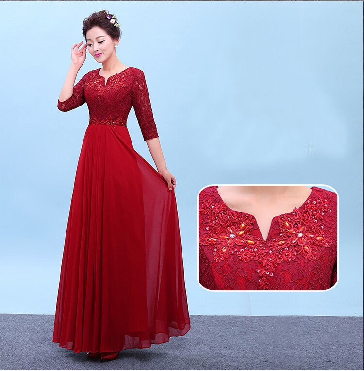 Detail Feedback Questions about women dark red elegant beaded ... 41464bc12362