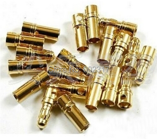 2015 Good quality  Hot Sell Toy 100pairs 5.5mm Gold Bullet Banana Connector plug Thick Gold Plated For RC Battery <br><br>Aliexpress