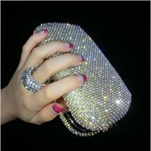 Heißer verkauf finger ringe diamanten kupplung geldbörse abendtaschen mischfarbe strass abendtasche kleine handtaschen/tote/geldbörsen()