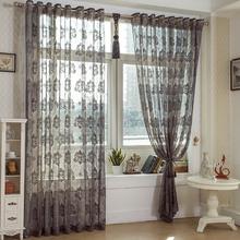 european style White& Black curtain voile jacquard curtain yarn decorative window curtain yarn sl021#30(China (Mainland))