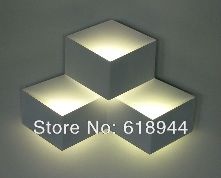 Italian designer original white cube three-dimensional diamond-shaped box of ice wall lamps light fixtures<br><br>Aliexpress