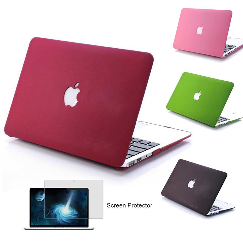 NEW Matte Case For Apple macbook Air Pro Retina 11 12 13 15 inch Protector For Mac book 11.6 13.3 15.4 hard laptop bag women men(China (Mainland))