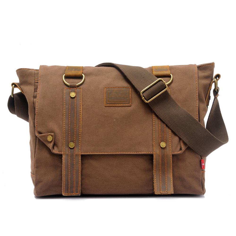 New Mens Messenger Bags Travel Satchel Bag Male Military Shoulder Bag Classical Design Vintage Canvas Bags Bolsas Free Shipping<br><br>Aliexpress
