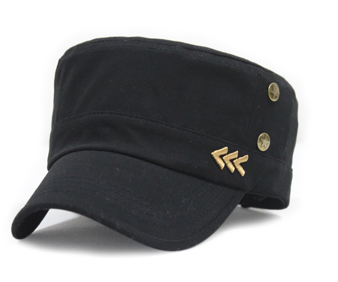 casual flat army cap fashion metal rivets stars peaked baseball cap women man(China (Mainland))