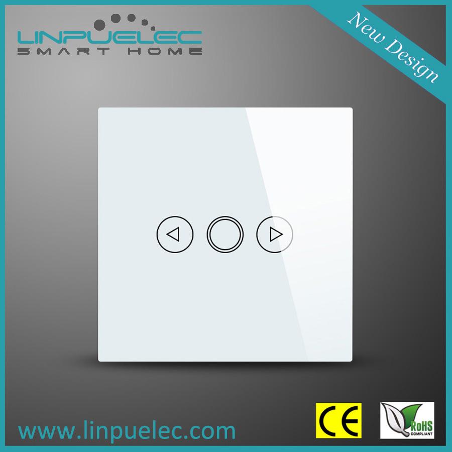 White EU Standard 1 Gang RF Wireless Remote Control TOUCH WALL DIMMER SWITCH Crystal Glass 1-Way Stylish LED Smart Home Switch - Linpu International(HK store Co., Ltd)