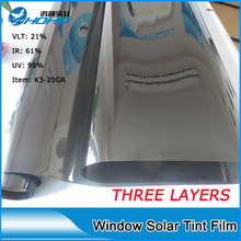1.52mx20m Residential Building window film SUV Solar tint film Heat insulation solar window film K3-20GR