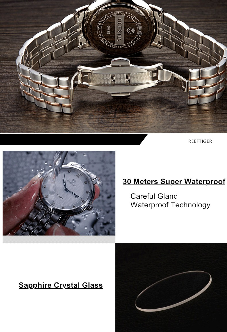 OCHSTIN Бренд мужской Clcok Женщины Простой Мода Повседневная Часы Мужчины Дата Водонепроницаемый Леди Кварцевые Мужские Наручные Часы Relogio Masculino