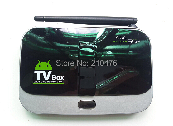 Фотография CS918S Andriod 4.4 Smart TV Box A31 Quad Core 1GB RAM 8GB ROM Built in 2.0MP Camera XBMC Bluetooth 3G 4K WIFI Android TV Box