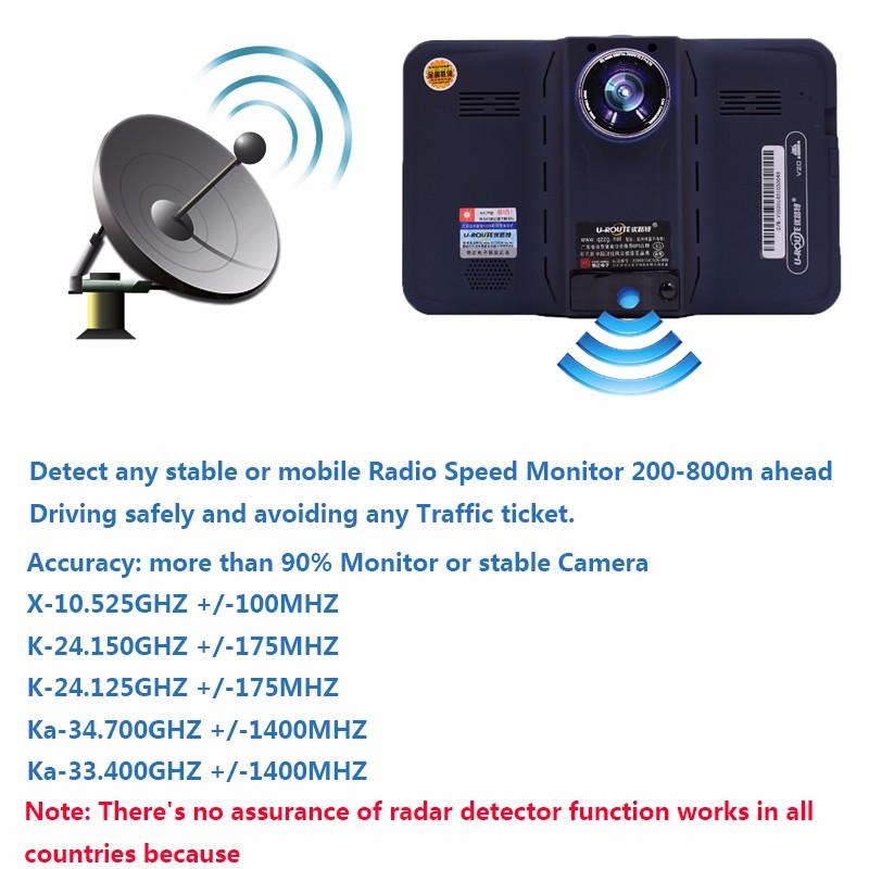 Купить 2016 7 дюймов GPS Навигации android радар-детектор с DVR заднего вида автомобильный навигатор европа или навител Карта грузовик gps