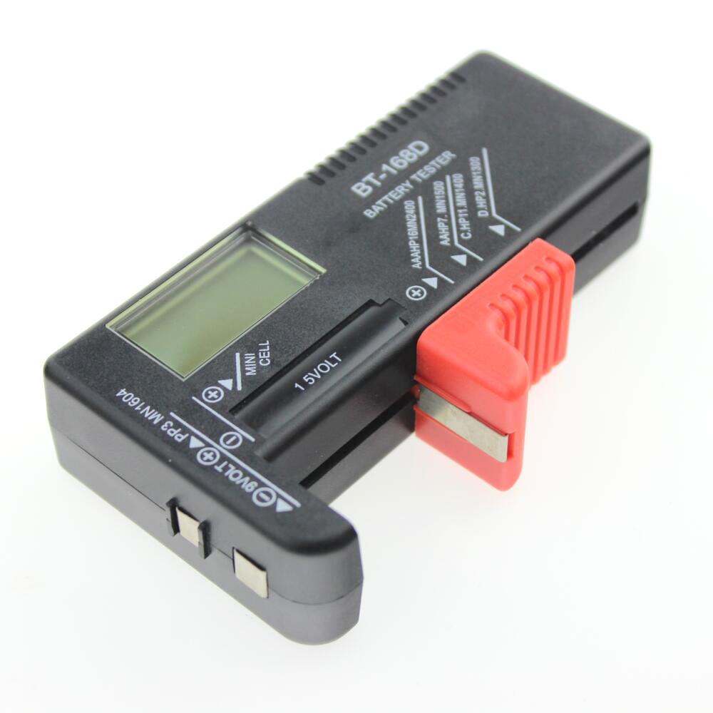 AA/AAA/C/D/9V/1.5V Display Universal Button Cell Battery Colour Coded Meter Indicate Volt Tester Checker BT-168 Drop Shipping