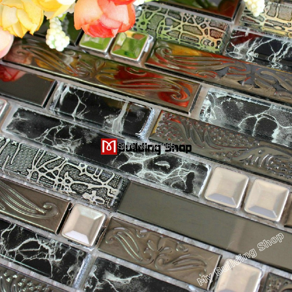 Stainless steel wall tiles backsplash