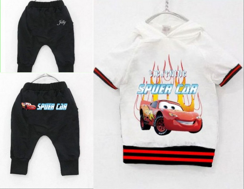 2014 baby & kids clothing set children hoodies summer casual t-shirts&pant boys clothes sets TOP sale 2~11Age - Jilly 's network children's store