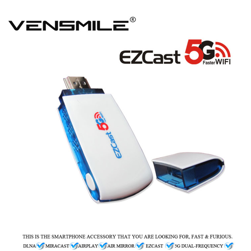 Vensmile V52D 5G+2.4G Dual Band WiFi DLNA Miracast Airplay Mirroring EZCast 5G 300Mbps tv stick support Android iOS Windows - Shenzhen Technology Co.,Ltd store
