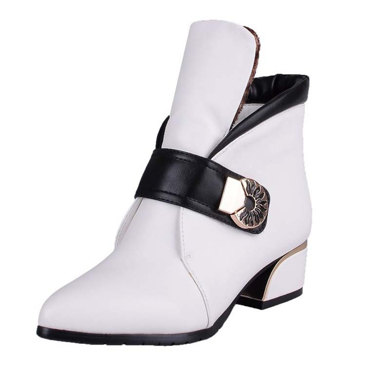 Pointed Toe Retro Women Boots Shoes New Fashion Soft Leather Winter Boots Big Size34-43 Martin Motorcycle boots<br><br>Aliexpress