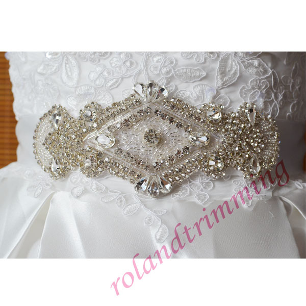 free shipping 2015 new luxurious jeweled sashes for