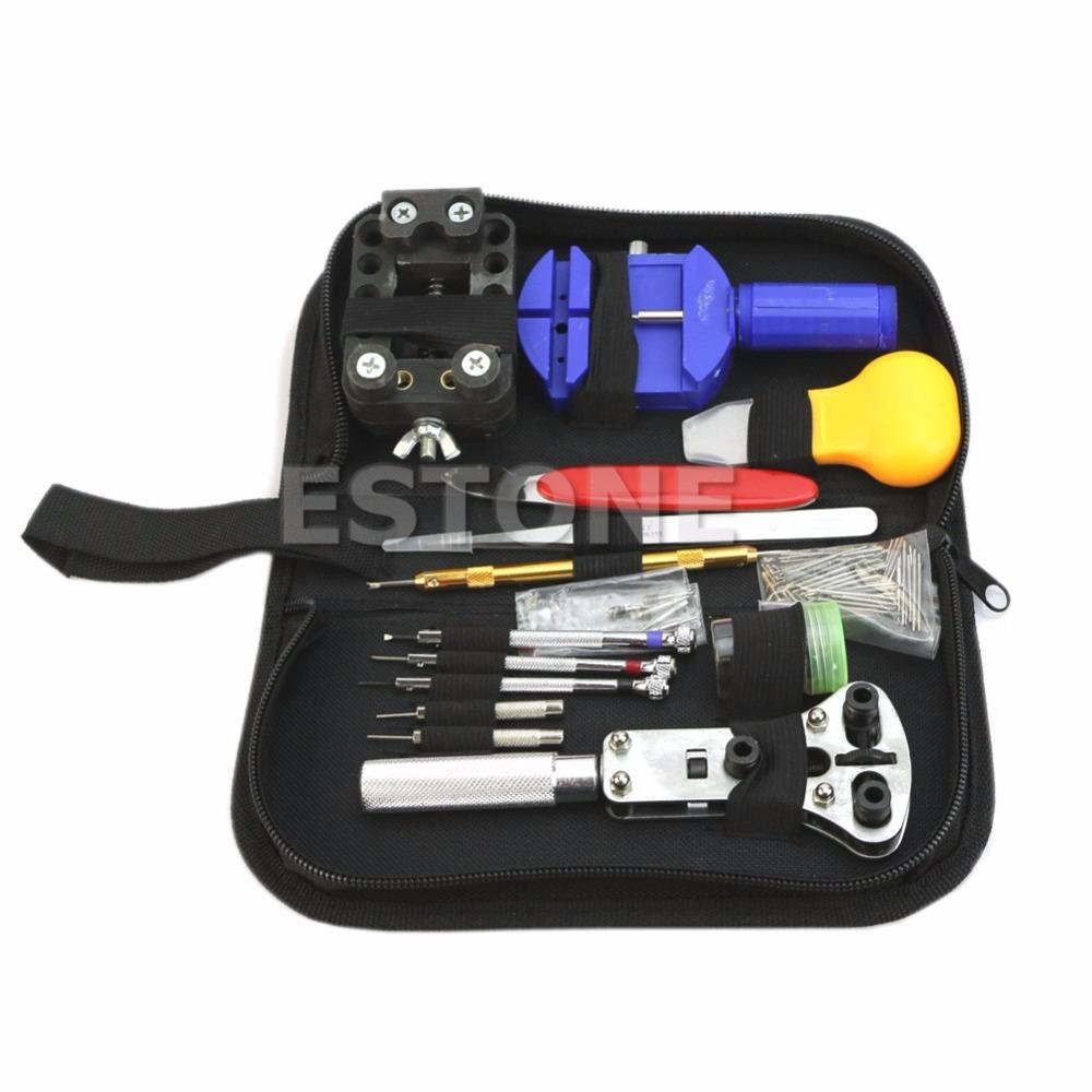 144 Pcs Watch Repair Kit Case Opener Pins Link Remover Spring Bar Tool Set New(China (Mainland))