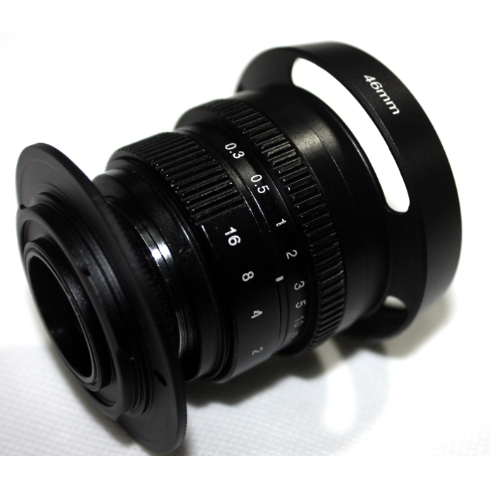 Black 35mm f/1.6 33mm f1.6 Micro Camera Lens for NEX + C-NEX adapter + Lens hood + macro ring*2 +NEX lens rear cap<br><br>Aliexpress