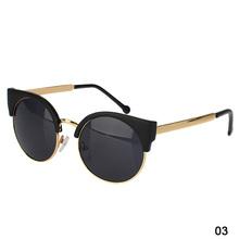 Hot Sale New Unisex Vintage Cat Eye Sunglasses Retro Round Girls Fashion Sun Glasses For Ladies