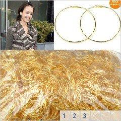 160prs Mix Wholesale jewelry Lot Gold Big Circle Basketball Wives Hoops Earrings Women Fashion Jewelry Free Ship(China (Mainland))