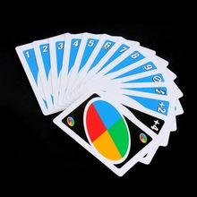 Familia divertido entretenimiento juego UNO diversión póquer jugando a las cartas juegos de Puzzle Family Fun Poker reglas ruso envío gratis(China (Mainland))