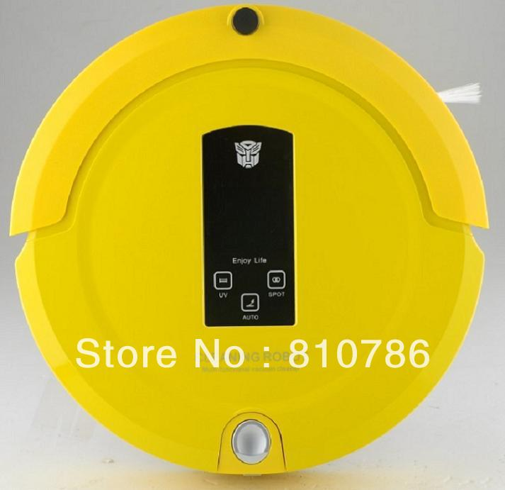 (EMS Free Shipping To Russia )2013 New Arrival Shining Logo 4 IN 1 Robotic Automatic Recharge Intelligent Robot Vacuum Cleaner(China (Mainland))