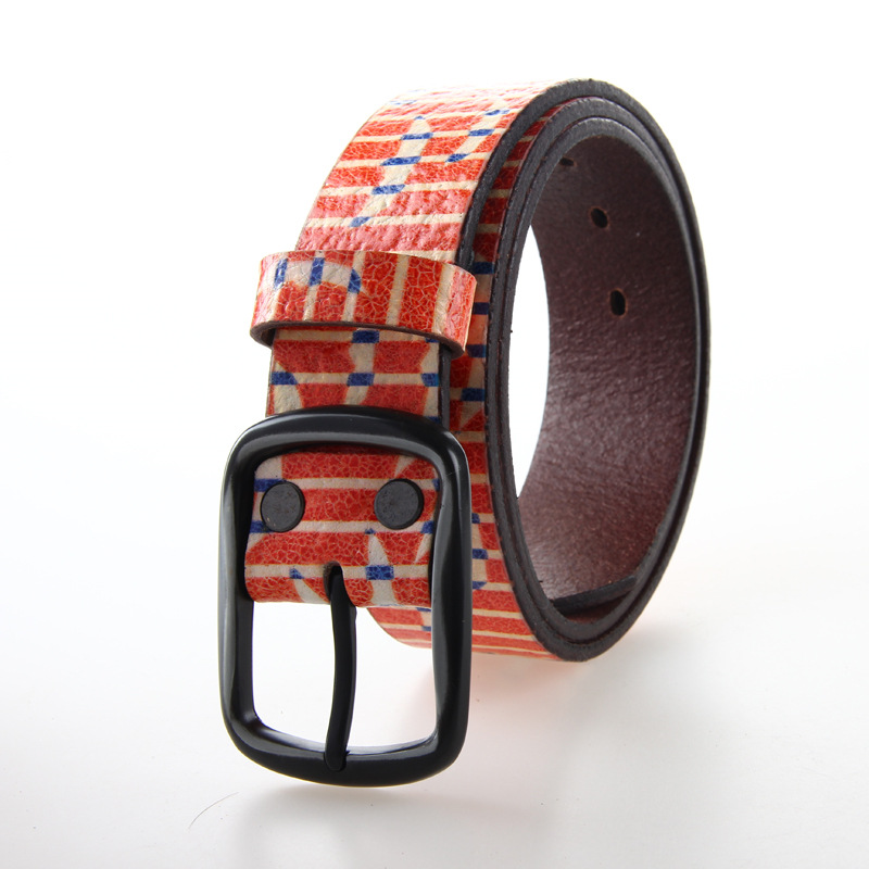 2015 New Fashion Wide Genuine Vintage Leather Belt Unisex Floral Carved Cow Skin Belts Women Top Quality Strap 4LU13(China (Mainland))