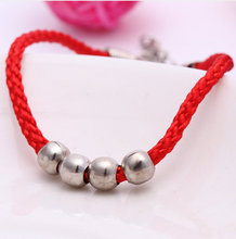 XL-3  men jewelry Chinese charms Red string silver Beads bracelets & bangles  Free Shipping