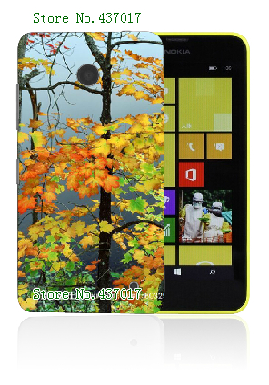 Mobile Phone Cases 2015 Retail 1pc plants Protective White Hard Cases For Nokia Lumia 630 Free Shipping(China (Mainland))